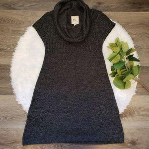 Pink Rose Cowl Neck Sweater Dress